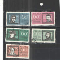 Polonia  PO 1962 Polacchi Famosi   Scott.1059/1063+See Scan On Schaubek Page; - 1944-.... République