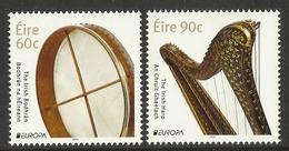 IRELAND 2014  EUROPA MUSICAL INSTRUMENTS SET MNH - Ongebruikt