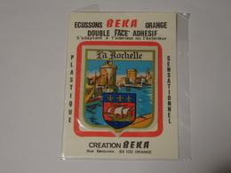 Blason écusson Adhésif Autocollant La Rochelle Création Beka Double Face - Obj. 'Souvenir De'