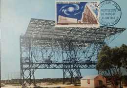 O) 1963 FRANCE, ASTRONOMY -RADIO TELESCOPE NANCAY, MAXIMUM CARD XF - 1960-69