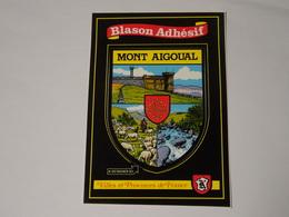 Carte Postale Adhésif Autocollant Blason écusson Mont Aigoual (Gard) - Obj. 'Souvenir De'