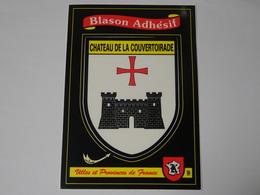 Carte Postale Adhésif Autocollant Blason écusson Chateau De La Couvertoirade (Aveyron Larzac) - Obj. 'Souvenir De'