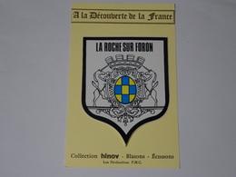 Carte Postale Adhésif Autocollant Blason écusson La Roche Sur Foron (Haute Savoie) - Obj. 'Souvenir De'