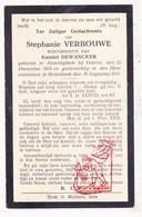 DP Stephanie Verbouwe ° Alveringem Veurne 1874 † Molenbeek 1916 X Kamiel DeWancker - Devotieprenten
