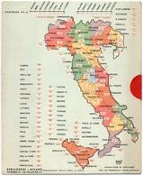 """07605 """"INDICATORE DISTANZE CHILOMETRICHE FRA LE PRINCIPALI CITTA' D'ITALIA STRADALI E FERROVIARIE """" ORIG. - Dépliants Touristiques"""