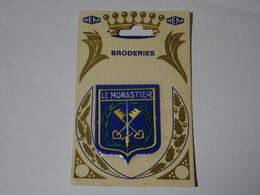 Blason écusson Tissu Feutrine Le Monastier (Haute Loire) - Ecussons Tissu