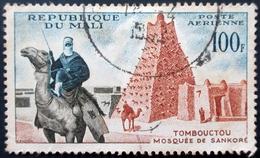 1961 Mali Mi 26, Yt PA 12 . Sankore Mosque, Timbuktu . Inauguration Of Timbuktu Airport And Air Mali . Oblitéré Used - Mali (1959-...)
