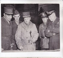 Photo Originale : Guerre 39-45  Allied Leaders Conference 1944 Eisenhower De Lattre Bradley .... - War, Military