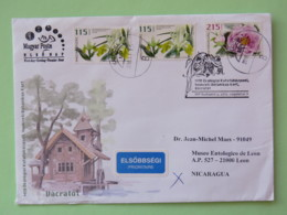 Hungary 2016 FDC Cover To Nicaragua - Flowers - Hongrie