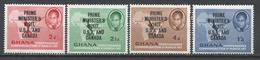 Ghana 1958. Scott #28-31 (M) Kwame Nkrumah, Map And Palm-nut Vulture ** Complet Set - Ghana (1957-...)