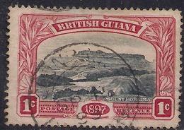 British Guiana 1898 QV 1ct Black & Red Mount Roraima SG 216 ( J1277 ) - British Guiana (...-1966)