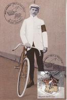 Maurice GARIN Premier Vainqueur Du Tour De France Avec Timbre - Cyclisme