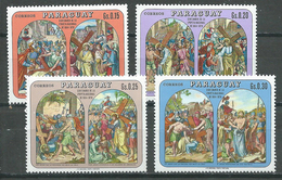 Paraguay YT N°1044-1045-1046-1047 Pâques 1970 Chemin De Croix Neuf ** - Paraguay