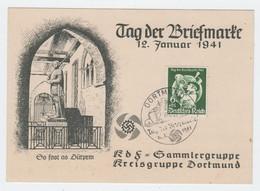 KDF Sammlergruppe Dortmund , Ersttagskarte 1941 - Deutschland