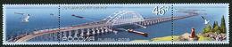 Russia 2018,Strip Of 3, Architectural Structures,Bridges,Crimean Bridge,# 2403,XF MNH** - Bridges