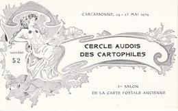 CERCLE AUDOIS DES CARTOPHILES  1 Er SALON DE LA CARTE POSTALE ANCIENNE - CARCASSONNE  1979 - Bourses & Salons De Collections