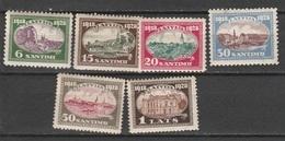 LETTONIA 1928, 10 Years State - Mi. 132/37  Serie Cpl. 6v. Nuovi**/* - Lettonia