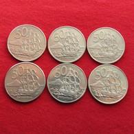 New Zealand 6 X 50 Cents 1967 1974 1976 1980 1986 1988 Nova Zelandia Nuova Zelanda Nouvelle Zelande - Nouvelle-Zélande