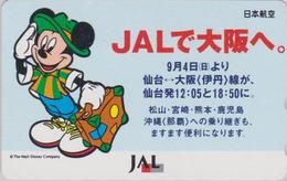 Télécarte Japon / 110-159446 - DISNEY JAL - MICKEY MOUSE JAPAN AIRLINES Phonecard / Aviation Avion - Disney