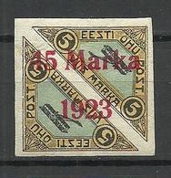 ESTLAND ESTONIA 1923 Michel 45 B II * Signed NB! - Estonie
