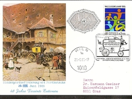 Austria & Postal, Sonderposten Beförderung Mit Postkutsche, 40 Jahre Vereinte Nationen, Viena 1985 (7797) - Poste & Facteurs