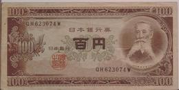 JAPAN P.  90b 100 Y 1953 VF - Japon