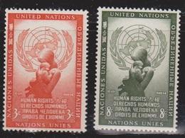 UNITED NATIONS (NY) Scott 29-30 MNH Human Rights Day - New York - Sede De La Organización De Las NU