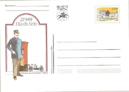 Portugal ** & Postal  Stationery, Stamp Day, Postman Uniform 1988 (7688) - Poste & Facteurs