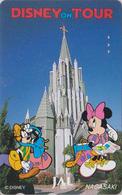Télécarte Japon / 110-171130 - DISNEY JAL ** MINNIE & PLUTO Dog In NAGASAGI ** JAPAN AIRLINES Phonecard / Aviation Avion - Disney