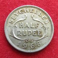 Seychelles 1/2 Half Rupee 1968 KM# 12  Seychellen Seicheles - Seychelles