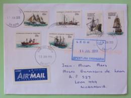 Australia Antarctic 2013 Cover Cambelltown To Nicaragua - Ships - 2010-... Elizabeth II
