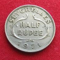 Seychelles 1/2 Half Rupee 1971 KM# 12  Seychellen Seicheles - Seychelles