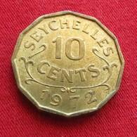 Seychelles 10 Cents 1972 KM# 10  Seychellen Seicheles - Seychelles