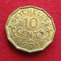 Seychelles 10 Cents 1971 KM# 10  Seychellen Seicheles - Seychelles