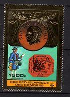 Comores P.A.  N° 173  X 100è Anniv. De La Mort De Rowland Hill, 1500 F Sur Or Trace De Charnière Sinon TB - Comores (1975-...)