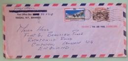 Bahamas 1970 Cover To England - Plane - Typical House - Bahamas (1973-...)