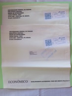 Brasil 2015 Two Plastic Cover To Nicaragua - Machine Franking - Brazil