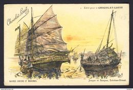 Junk And Sampan Ship, Far East ~ Orient ~ Charley A/s - Chocolat-Louit Ad - Sailing Vessels