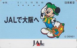 Télécarte Japon / 110-165745 - DISNEY JAL - MICKEY MOUSE - JAPAN AIRLINES Phonecard - Disney