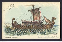 Drakkar Norman Pirates Ship, 9th Century Charley A/s - Chocolat-Louit Ad - Sailing Vessels