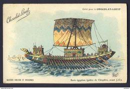 Egyptian War Ship ~ Baris, Cleopatra ~ Charley 1911 A/s - Chocolat-Louit Ad - Sailing Vessels