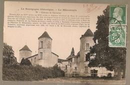 France & Circulated, Greetings From Mâconnais, Château, La Bourgogne Historique, Moulins 1925 (78) - Souvenir De...
