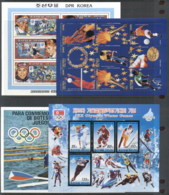 Thematics, Sports & Olympics Mint & CTO Inc MS 8 Scans - Stamps