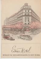 C.P.A. - EDEN - ROOF GARDEN - BERLIN - HOTEL - VOITURES - Autres