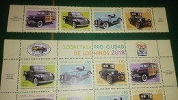 Costa Rica Stamps, Old Cars, Complete Set. 2018 - Costa Rica