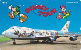 Télécarte Japon / 110-161053 - DISNEY ON TOUR JAL - JAPAN AIRLINES Phonecard Telefonkarte / Avion Airplane - Disney