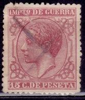 Spain, 1877, War Tax, Alfonso XII, 15c,sc#MR10, Used - Kriegssteuermarken