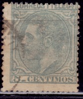 Spain, 1879, Alfonso XII, 5c, Sc#243, Used - 1875-1882 Kingdom: Alphonse XII