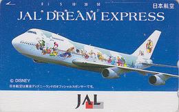 Télécarte Japon / 110-161639 - DISNEY JAL - JAPAN AIRLINES Phonecard / DREAM EXPRESS / Avion Airplane - Disney