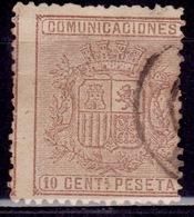 Spain, 1874, Coat Of Arms, 10c, Sc#211, Used - Oblitérés